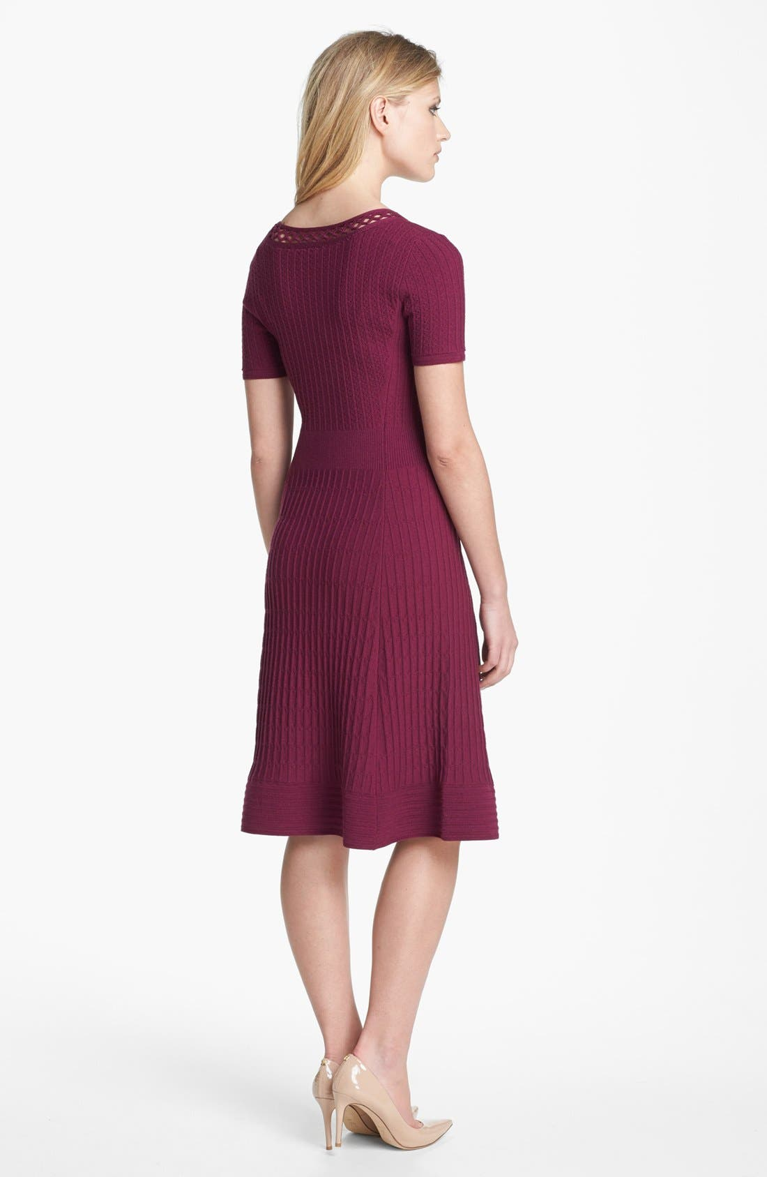 'Ashlyn' Merino Wool Blend Sweater Dress,                             Alternate thumbnail 2, color,                             Washed Red Wine