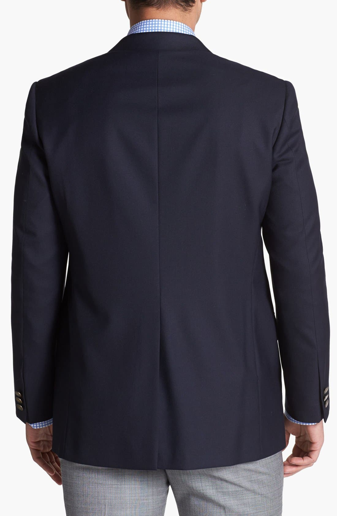 Alternate Image 2  - Hickey Freeman Navy Wool Blazer