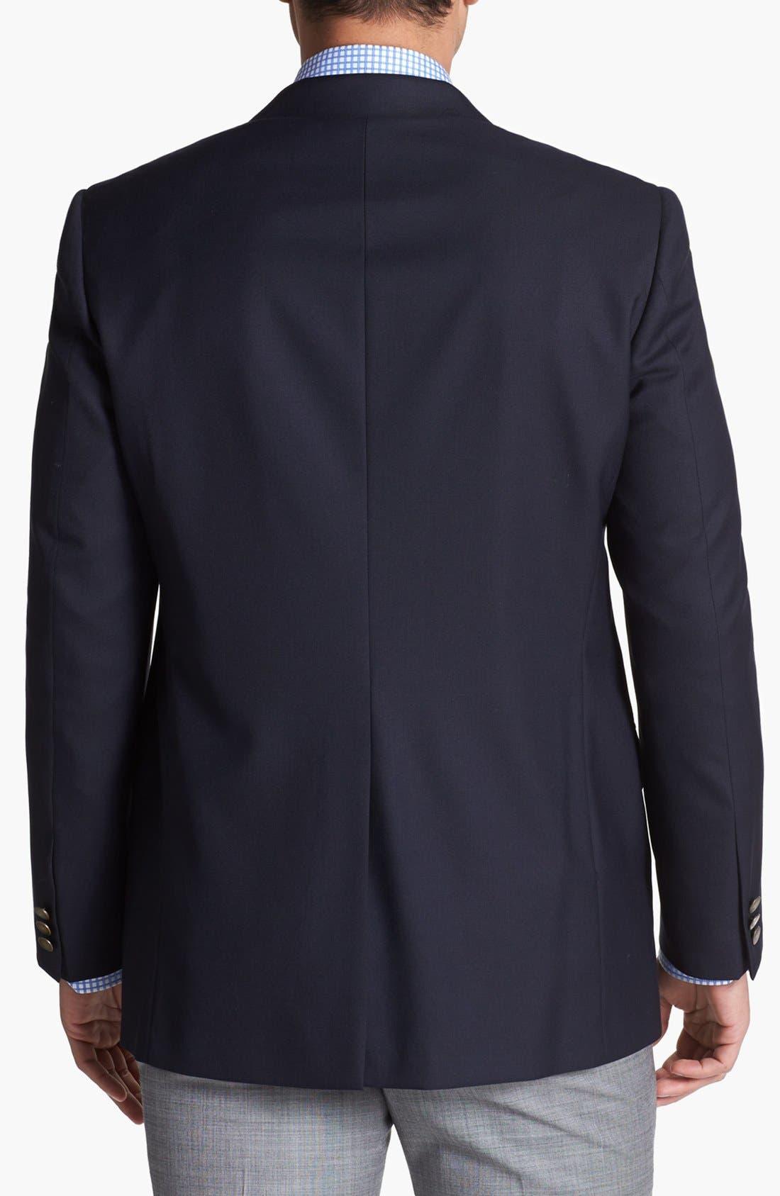 Navy Wool Blazer,                             Alternate thumbnail 2, color,                             Navy