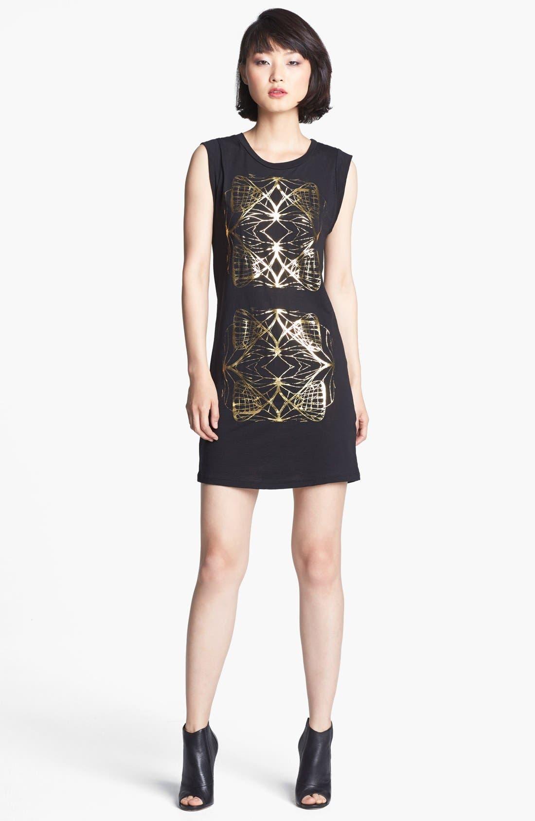 Main Image - Kelly Wearstler 'Diamond' Foiled Print Dress