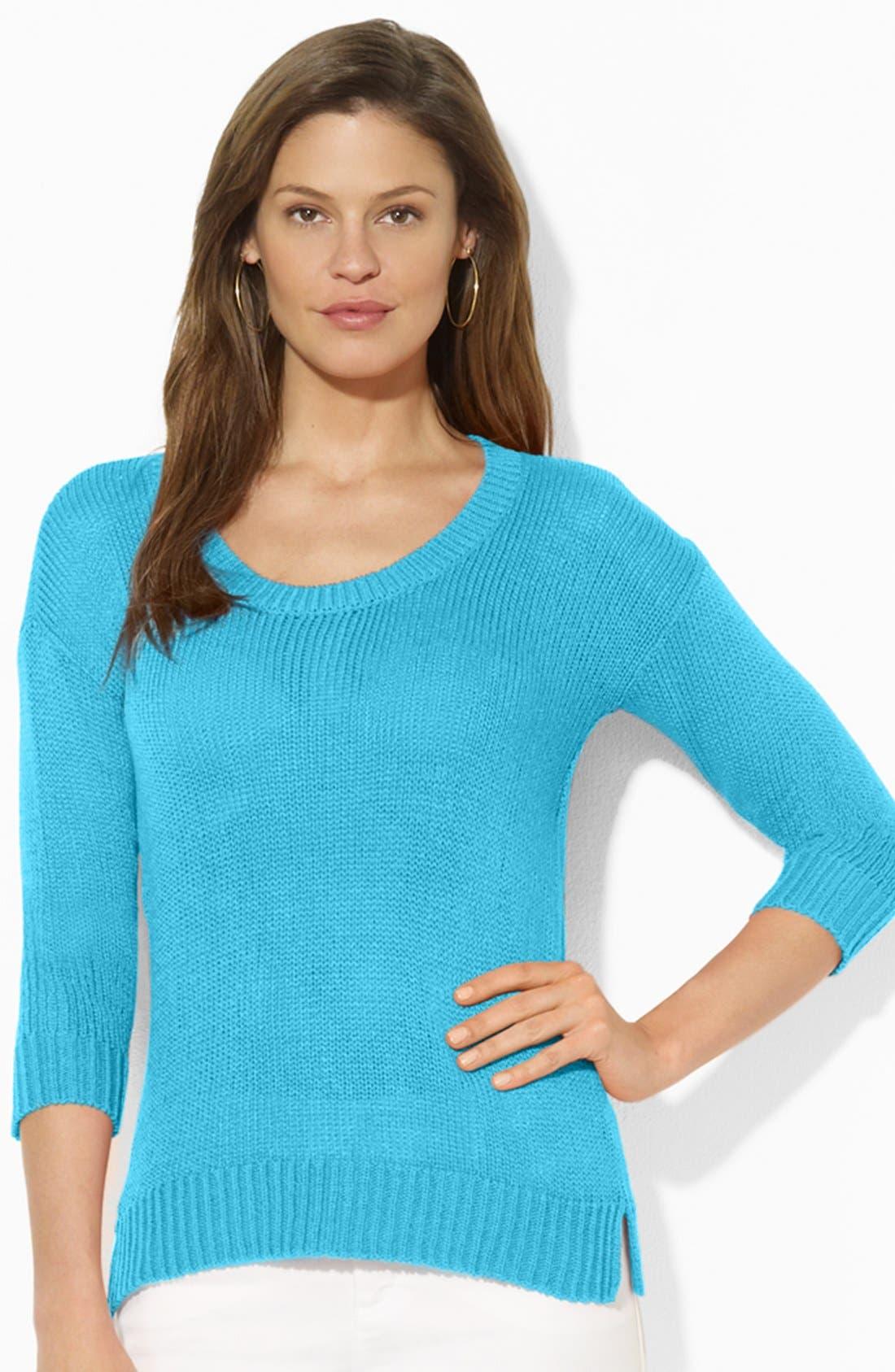 Alternate Image 1 Selected - Lauren Ralph Lauren Scoop Neck Sweater