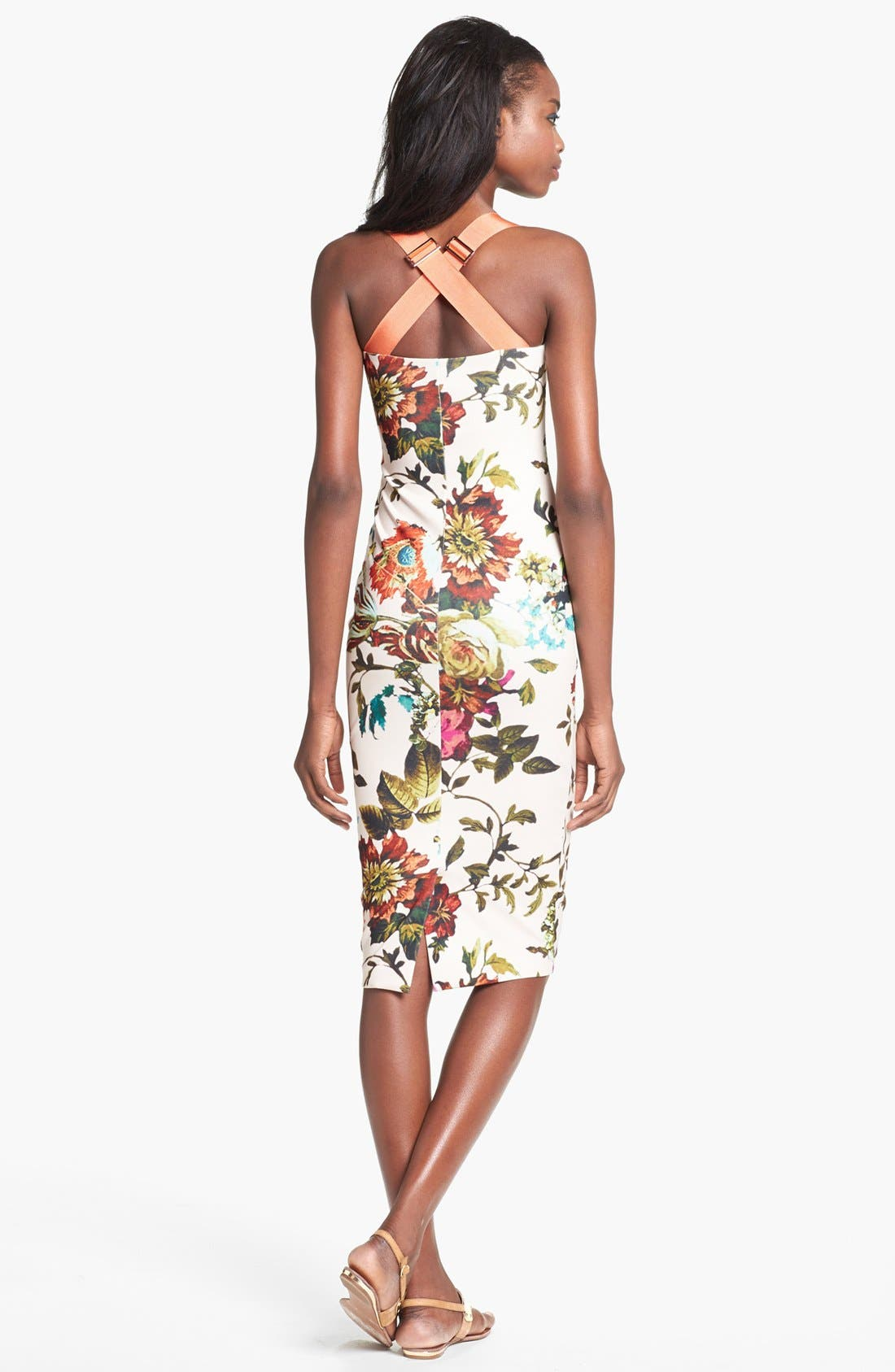 Alternate Image 2  - Ted Baker London 'Midsummer Floral' Stretch Jersey Midi Dress