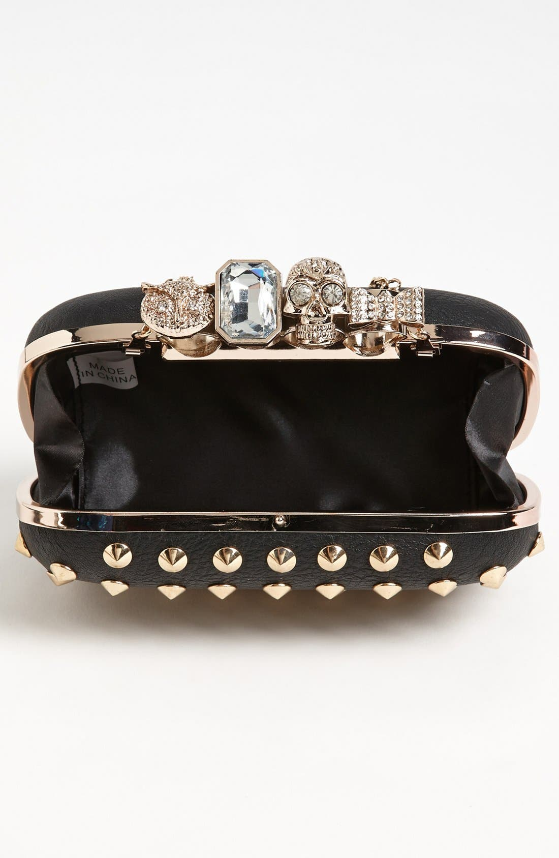 Alternate Image 3  - Natasha Couture 'Finger' Studded Clutch