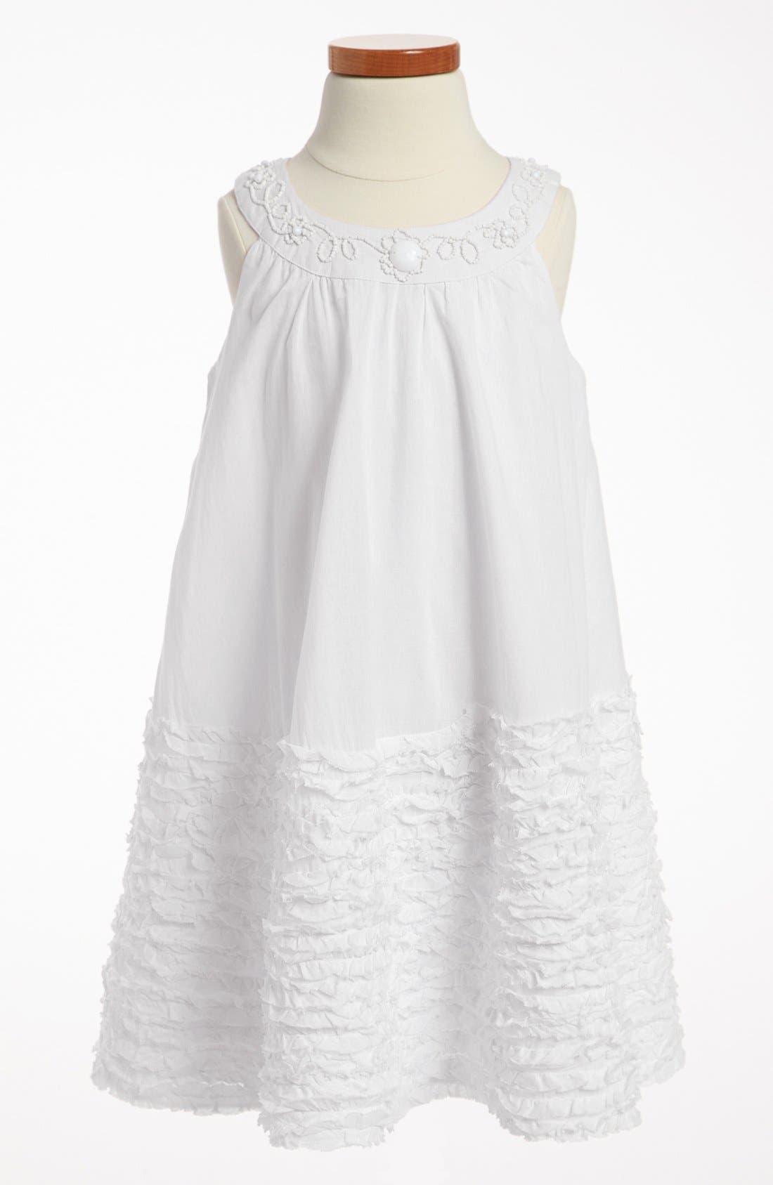 Alternate Image 1 Selected - La Piccola Danza Kidswear Ruffle Trapeze Dress (Little Girls & Big Girls)