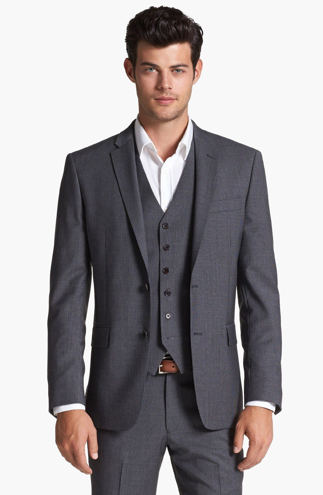 Main Image - John Varvatos Star USA 'Townshend' Trim Fit Check Sportcoat