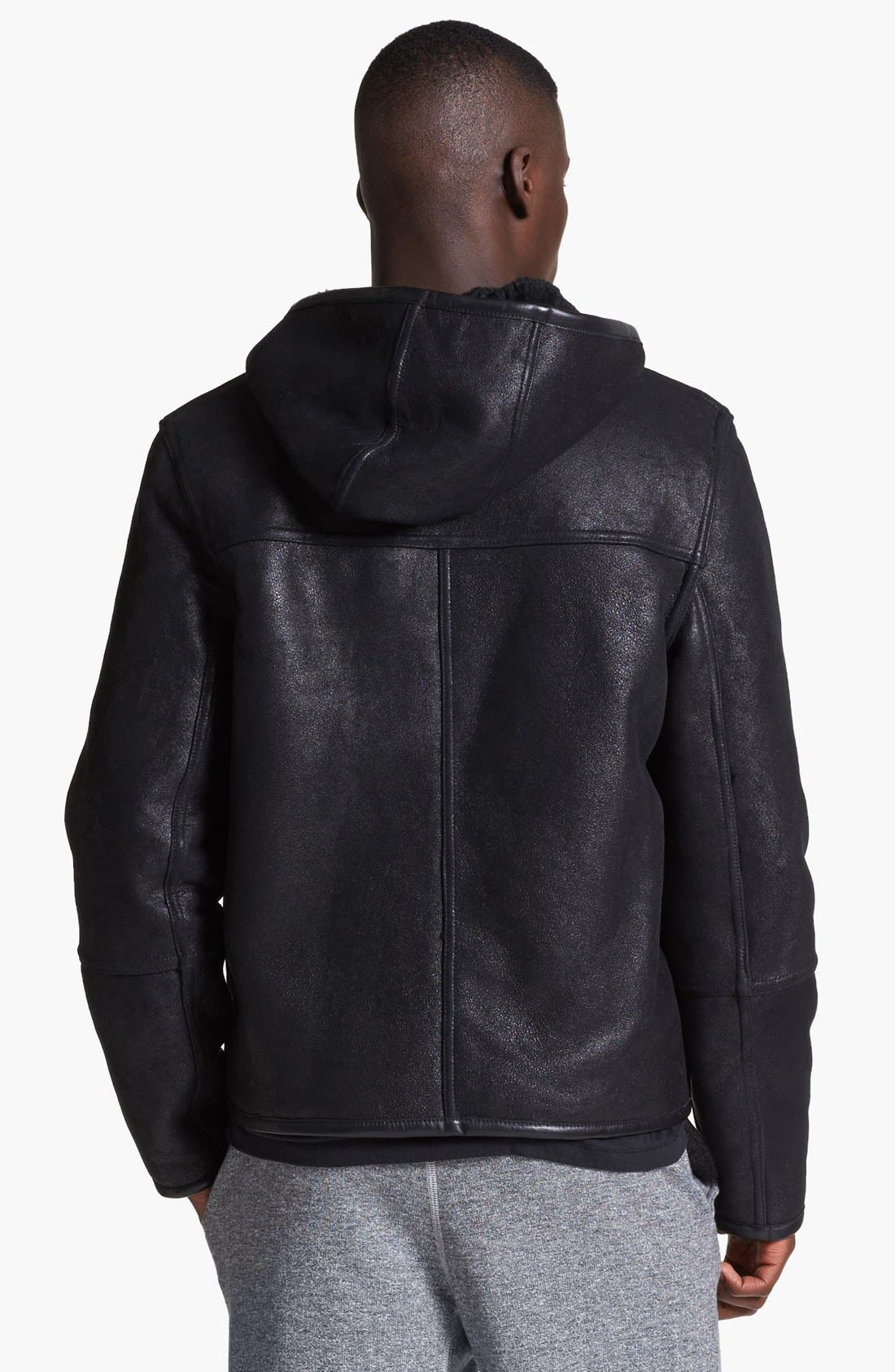 Alternate Image 2  - T by Alexander Wang Reversible Genuine Shearling Leather Jacket