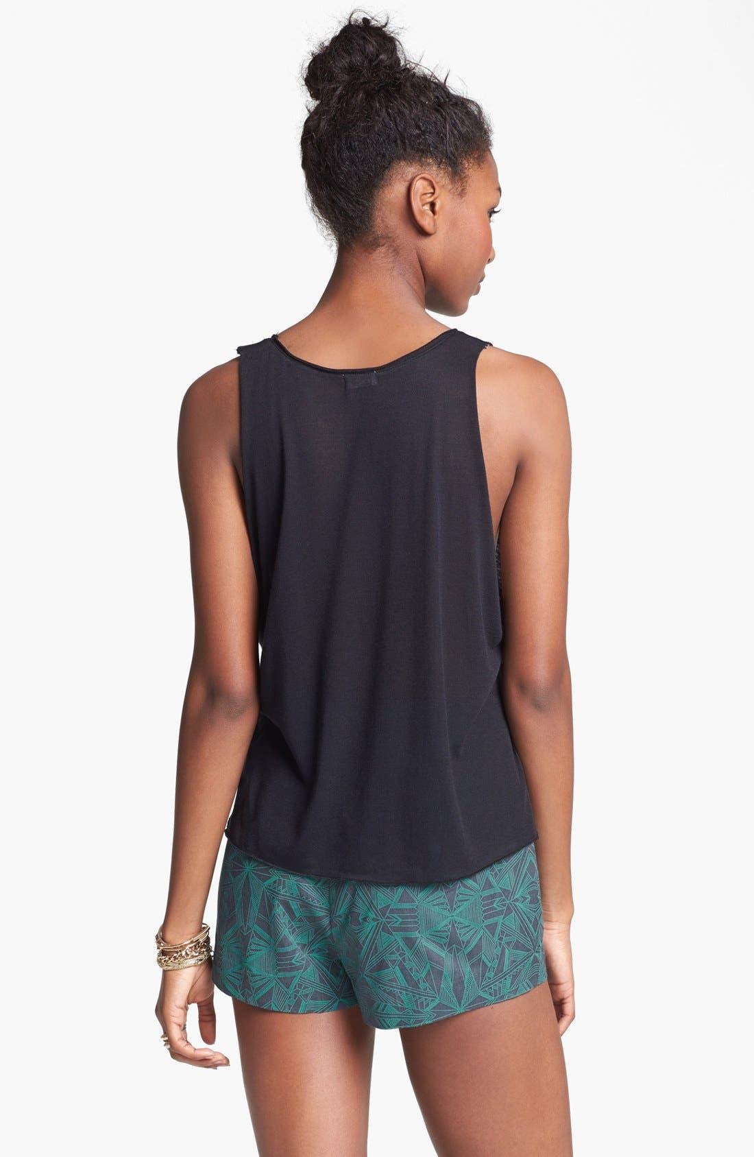 Alternate Image 2  - BP. High Waist Print Shorts (Juniors)