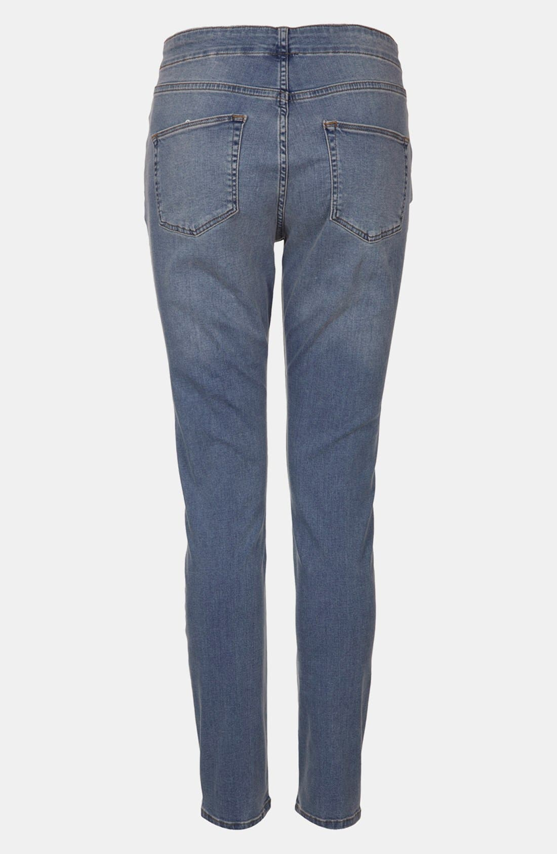 Alternate Image 2  - Topshop 'Jamie' Denim Maternity Leggings