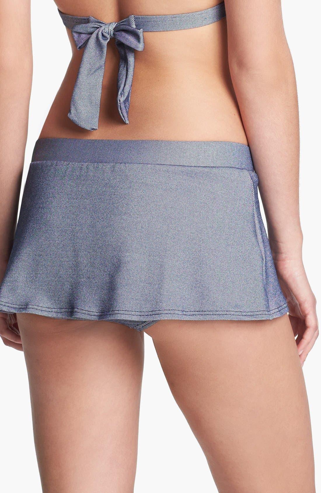 Alternate Image 2  - Tommy Hilfiger Pleated Skirted Bikini Bottoms
