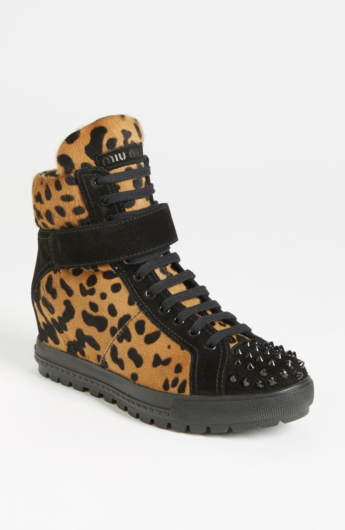 Alternate Image 1 Selected - Miu Miu Wedge Sneaker