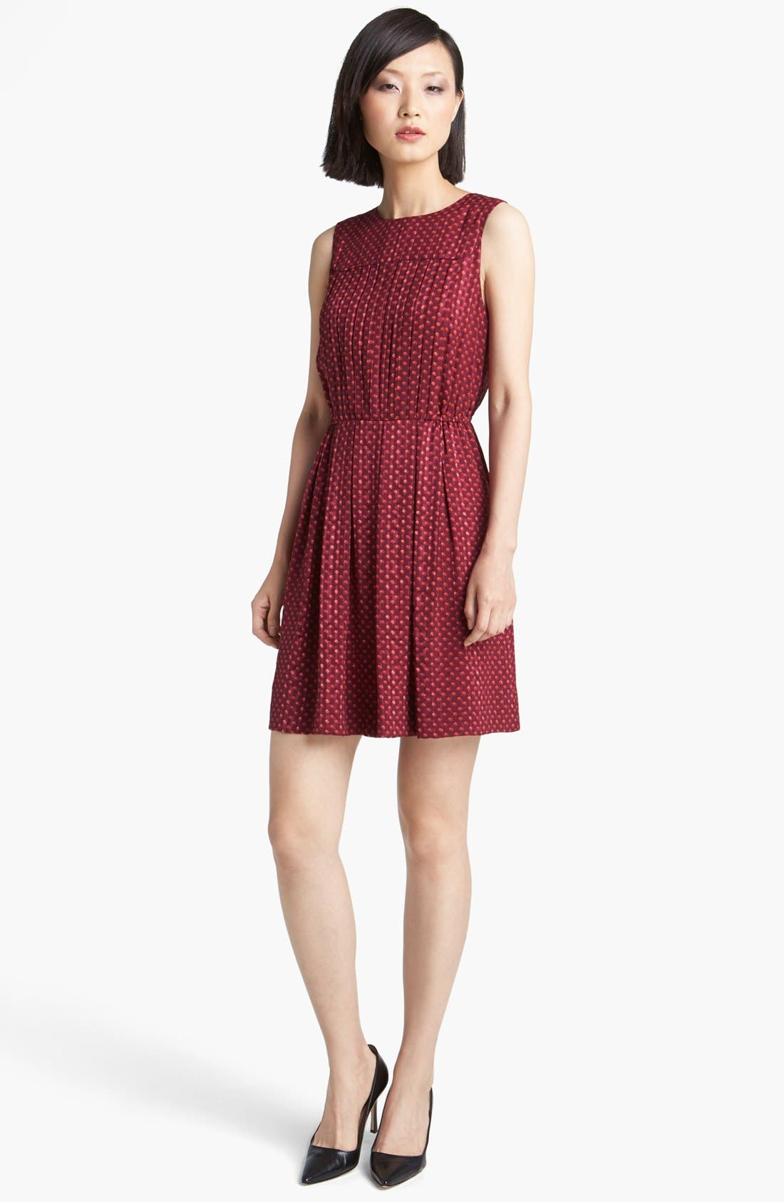 Alternate Image 1 Selected - MARC BY MARC JACOBS 'Minetta' Print Silk A-Line Dress