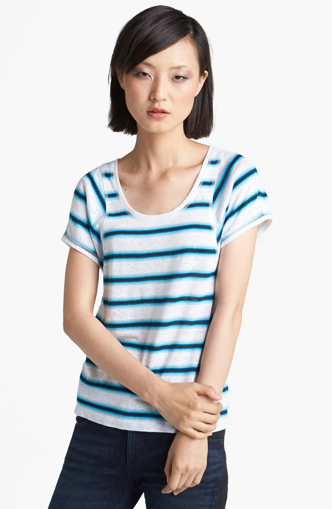 Alternate Image 1 Selected - MARC BY MARC JACOBS Stripe Linen Tee