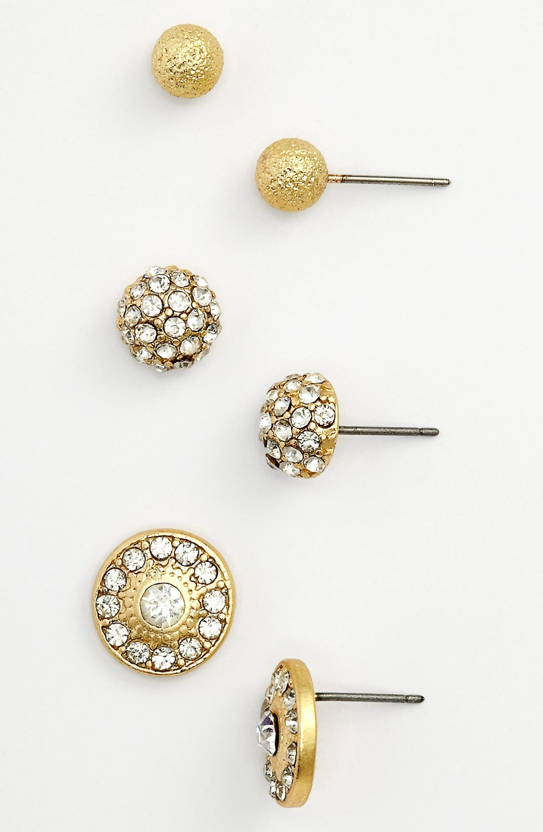 Stud Earrings,                         Main,                         color, Gold