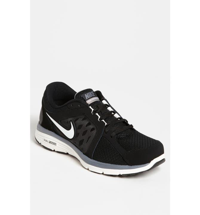 Men White Nike Shoe Red Trim
