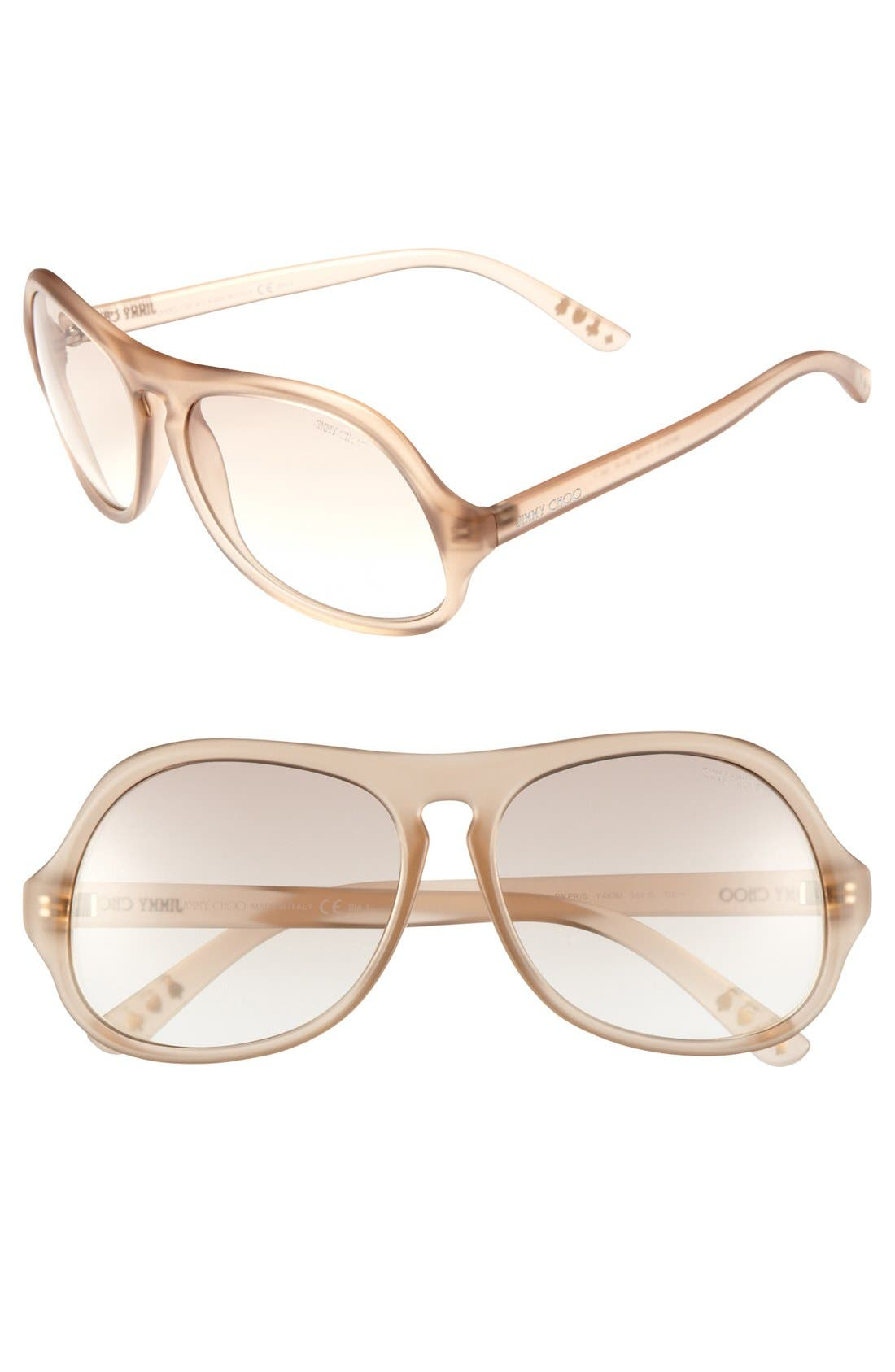 Alternate Image 1 Selected - Jimmy Choo 'Biker' Oversized Sunglasses