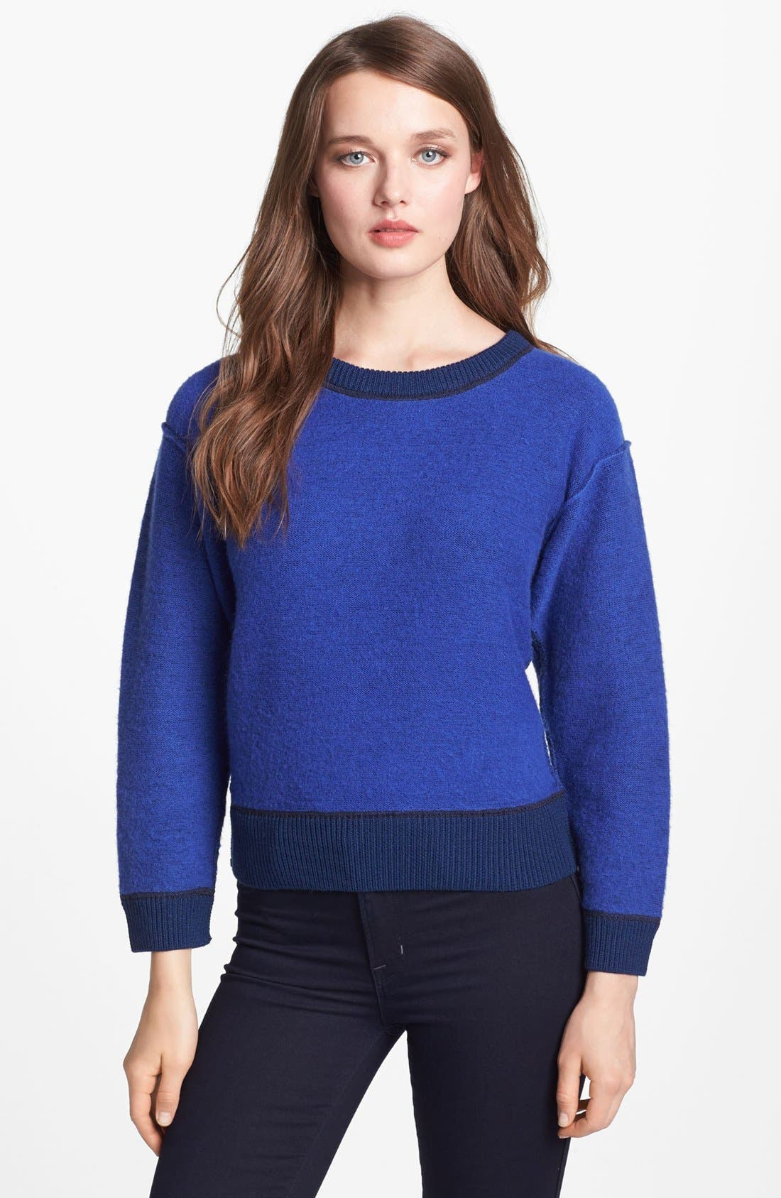 Alternate Image 1 Selected - MARC BY MARC JACOBS 'Harriet' Crop Wool Sweater