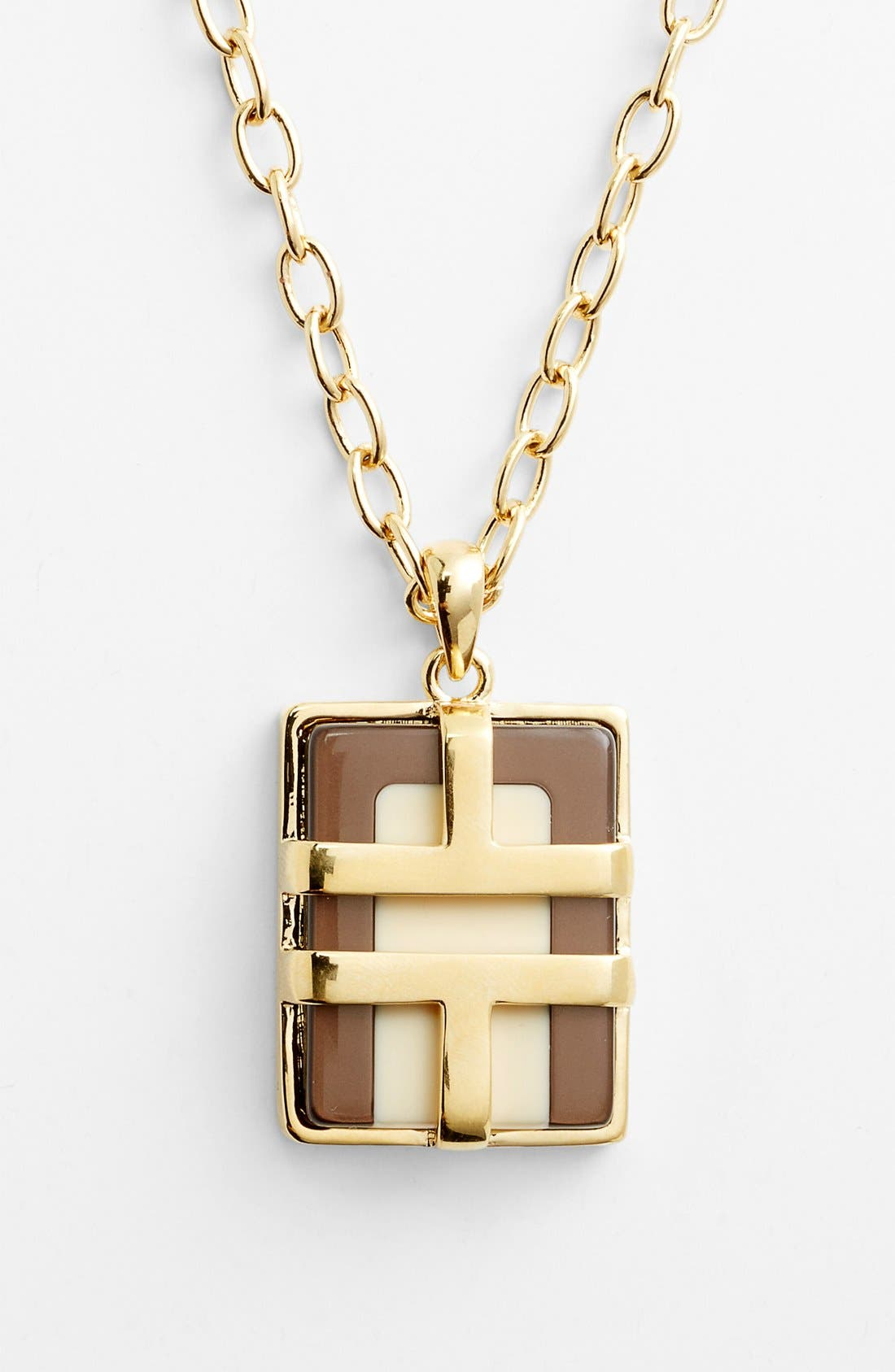 Alternate Image 1 Selected - Tory Burch 'Travis' Pendant Necklace