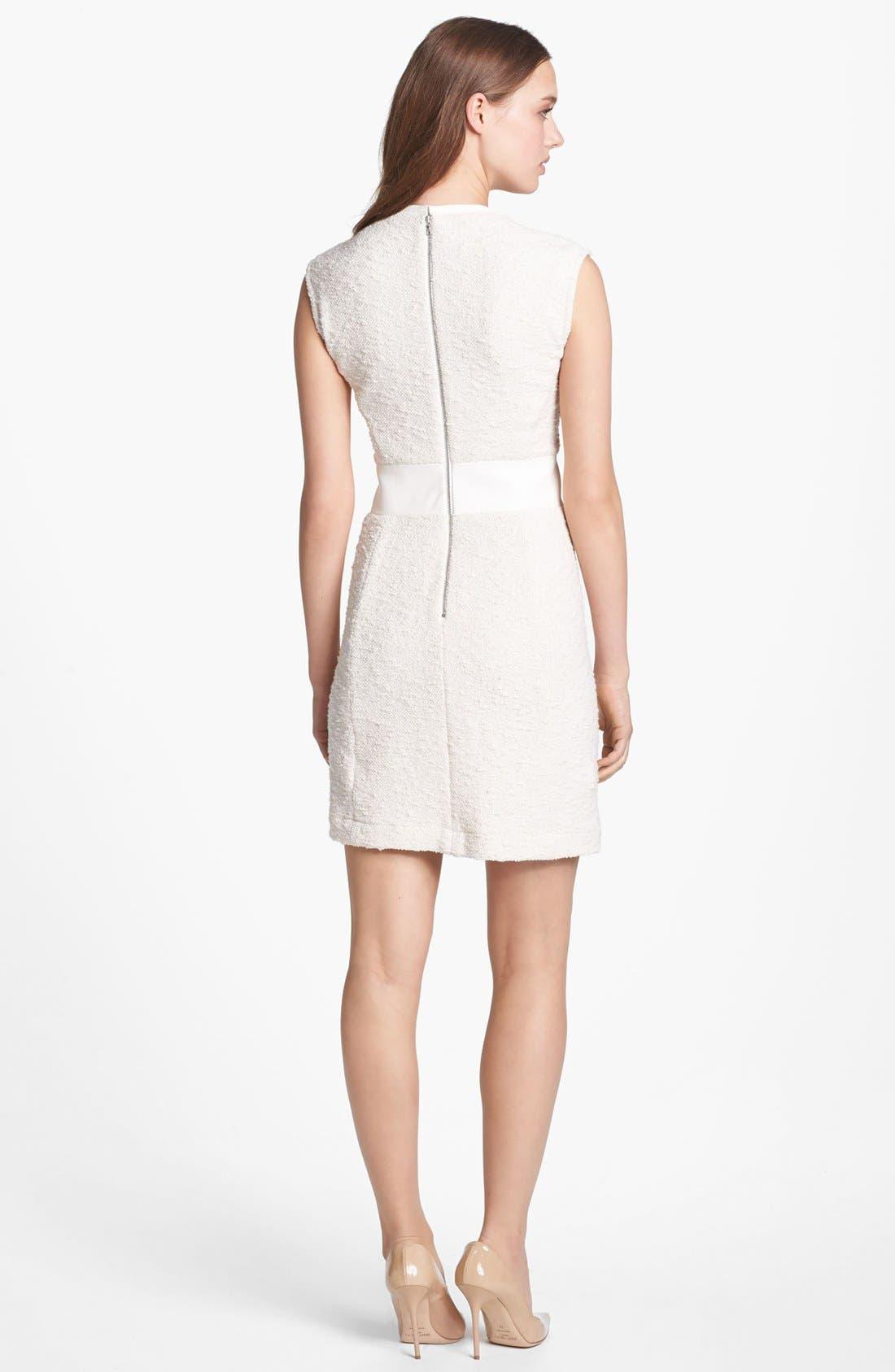 Alternate Image 2  - Rebecca Taylor Bouclé Sheath Dress