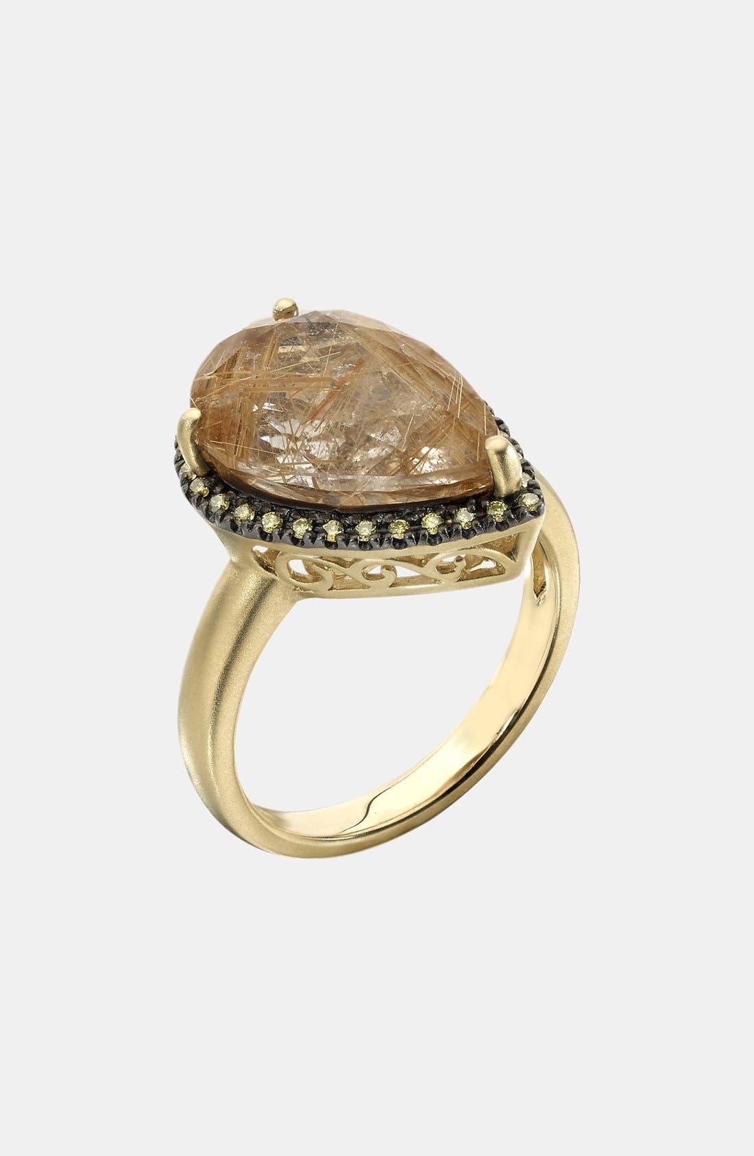 Alternate Image 1 Selected - Whitney Stern Quartz & Diamond Cocktail Ring