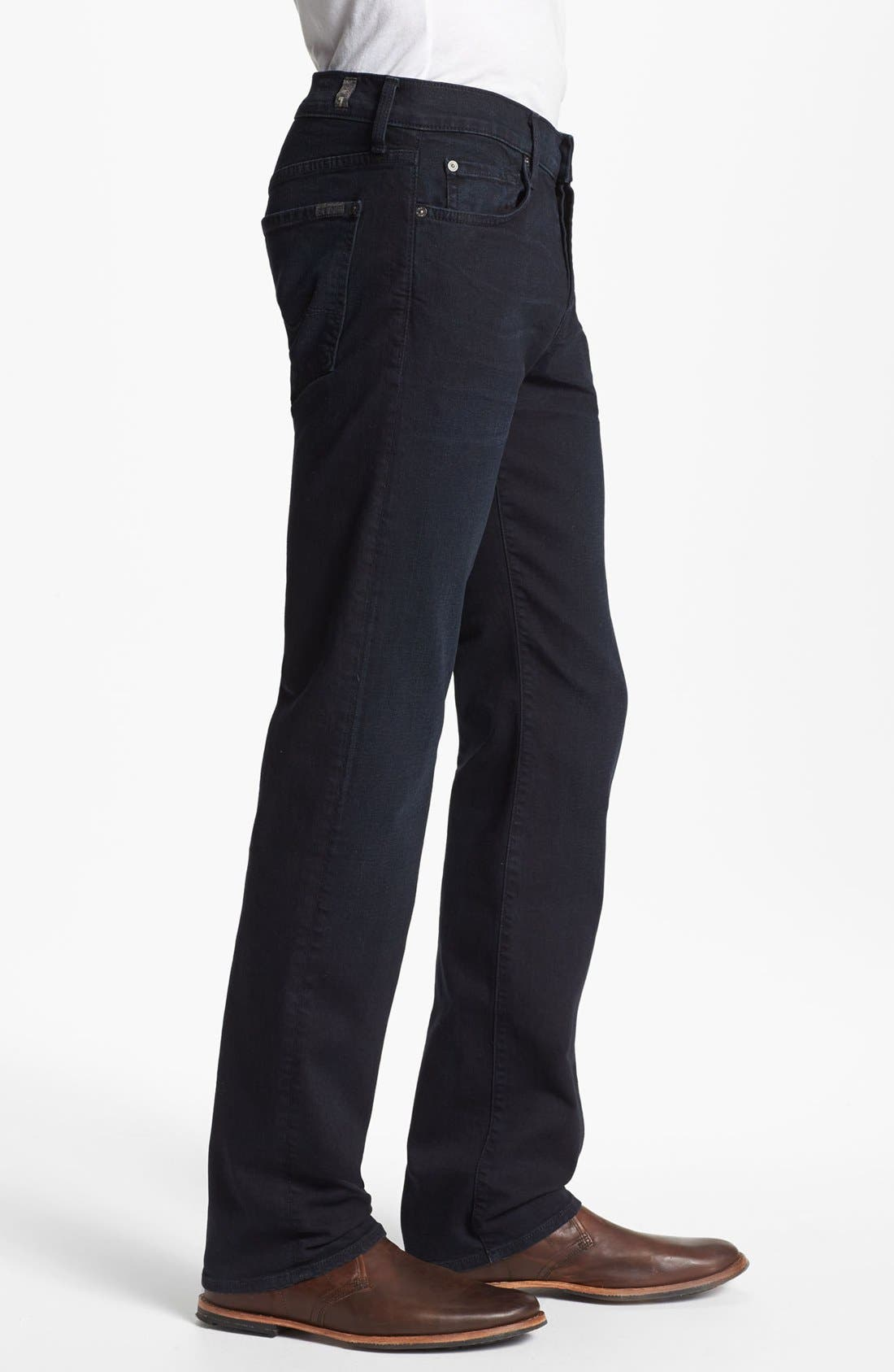 Alternate Image 3  - 7 For All Mankind® 'Standard' Straight Leg Jeans (Castaic Lake)