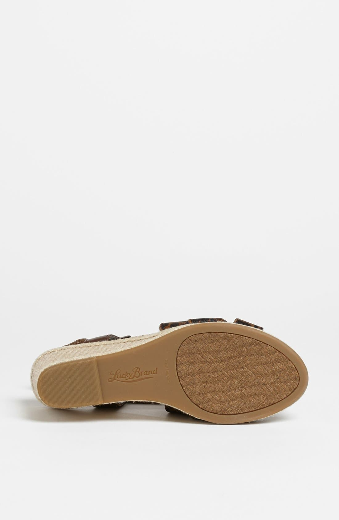 Alternate Image 4  - Lucky Brand 'Keane' Wedge Sandal