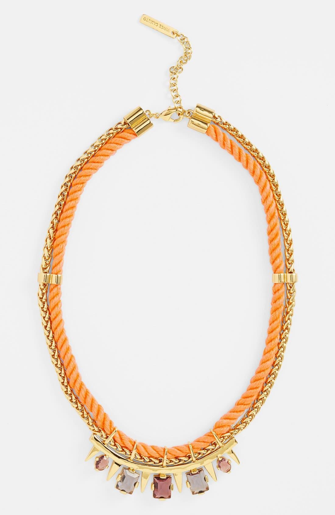 'Rope Royalty' Bib Necklace,                         Main,                         color, Vibrant Orange Multi/ Gold