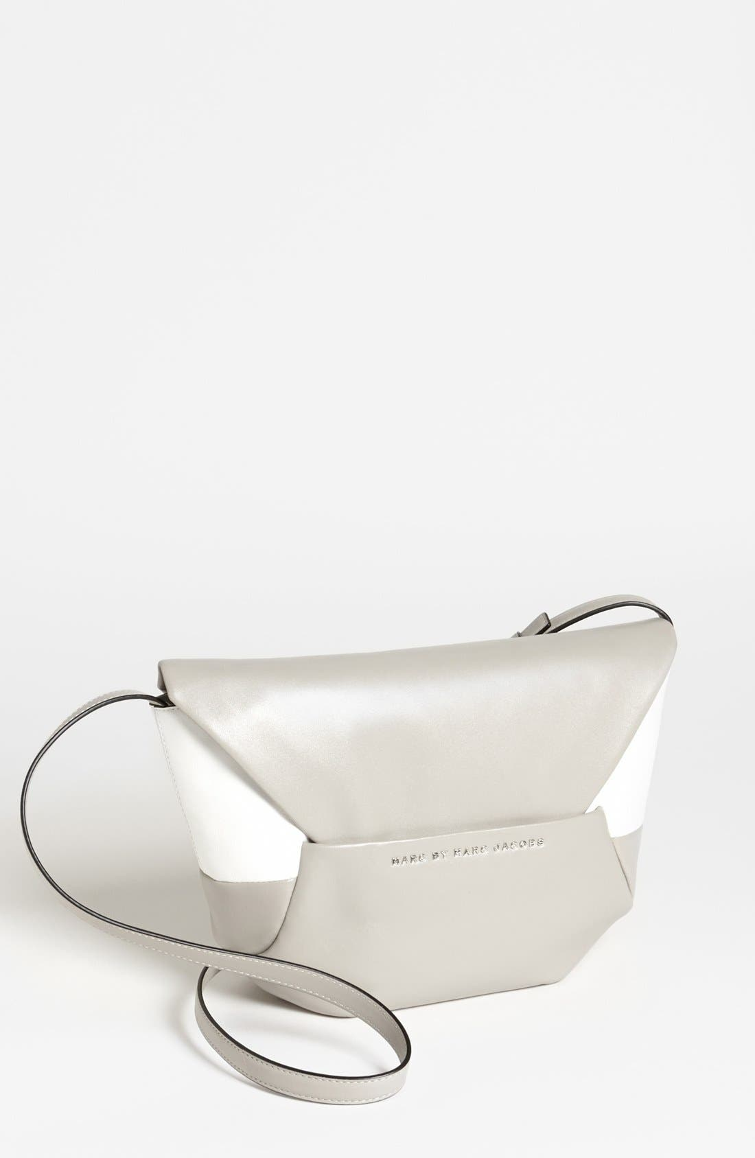 Main Image - MARC BY MARC JACOBS 'Updated Tangram - Colorblock Rocky' Leather Crossbody Bag