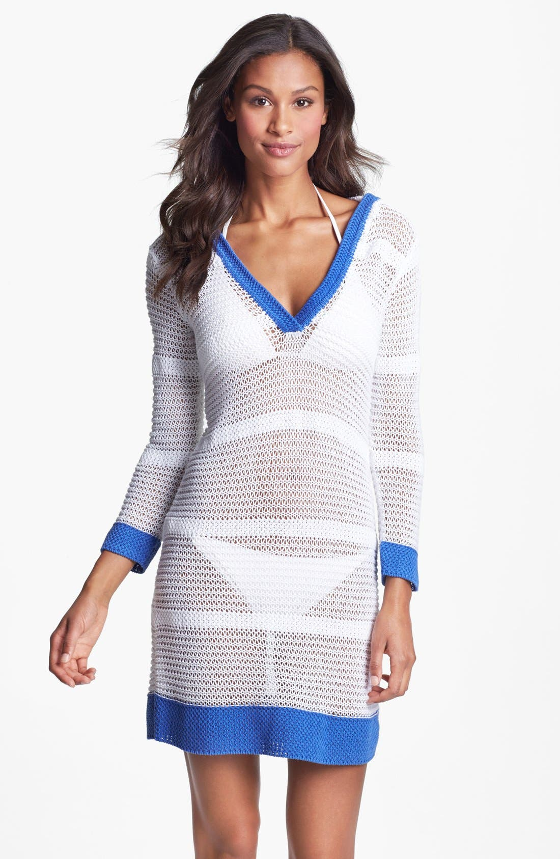 Alternate Image 1 Selected - Tommy Bahama Open Stitch Beach Sweater