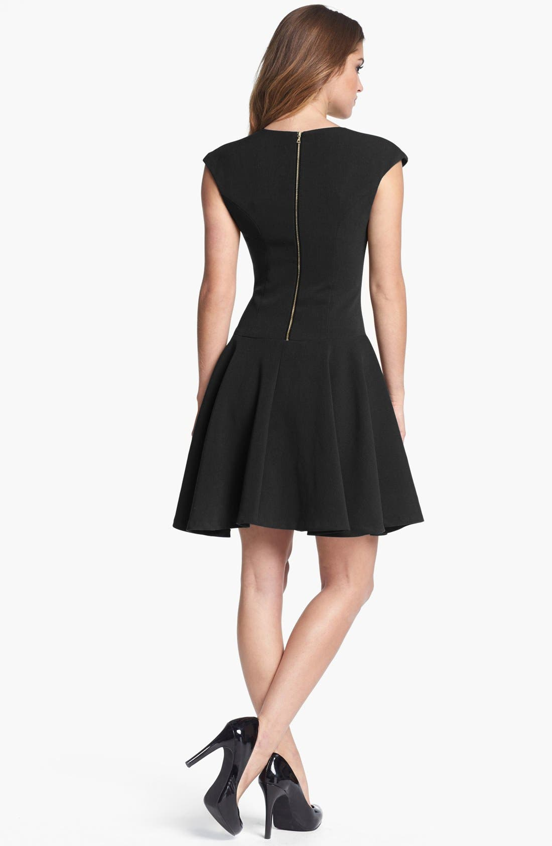 Alternate Image 2  - Eliza J Ponte Knit Skater Dress (Regular & Petite)