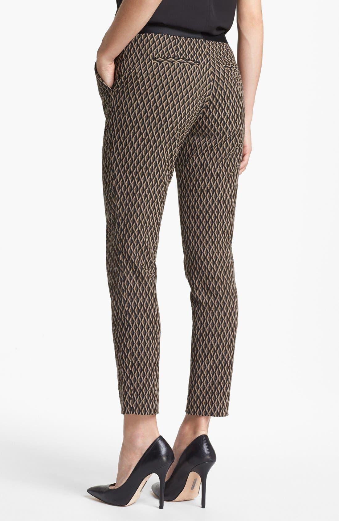 Alternate Image 4  - Vince Camuto Satin Waist Jacquard Crop Pants