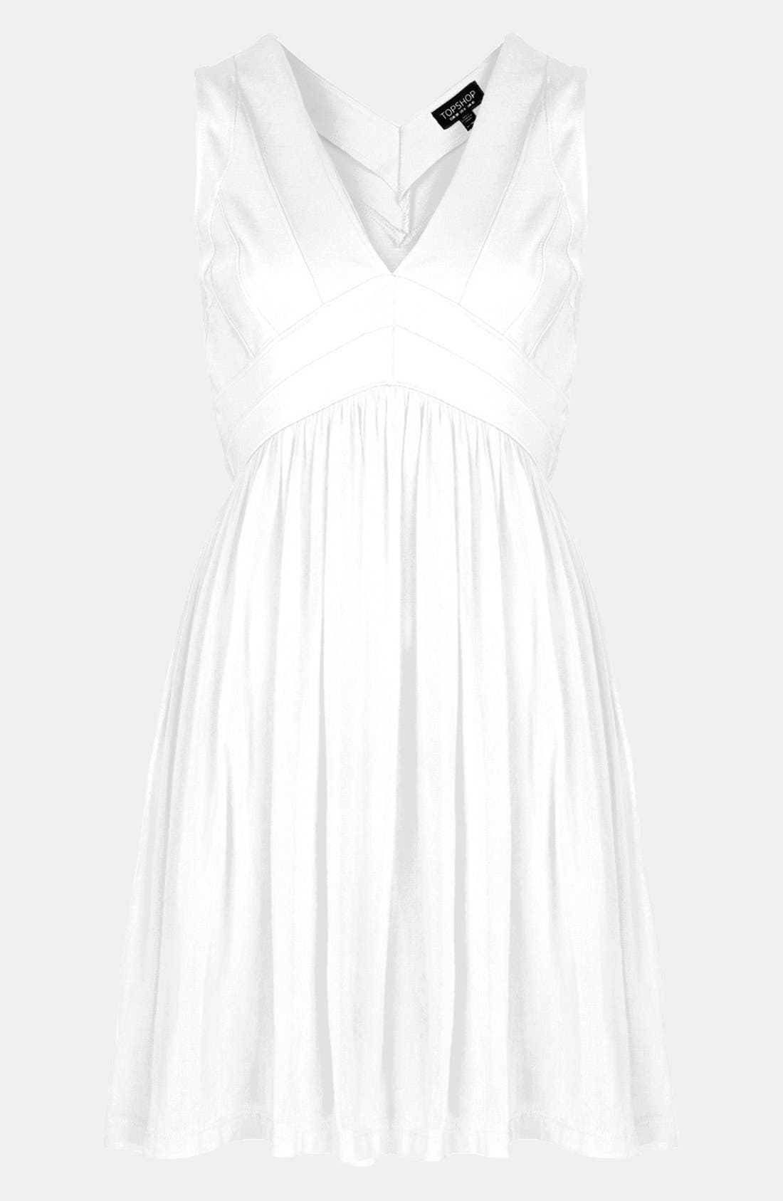 Alternate Image 1 Selected - Topshop Bandage Bodice Skater Dress