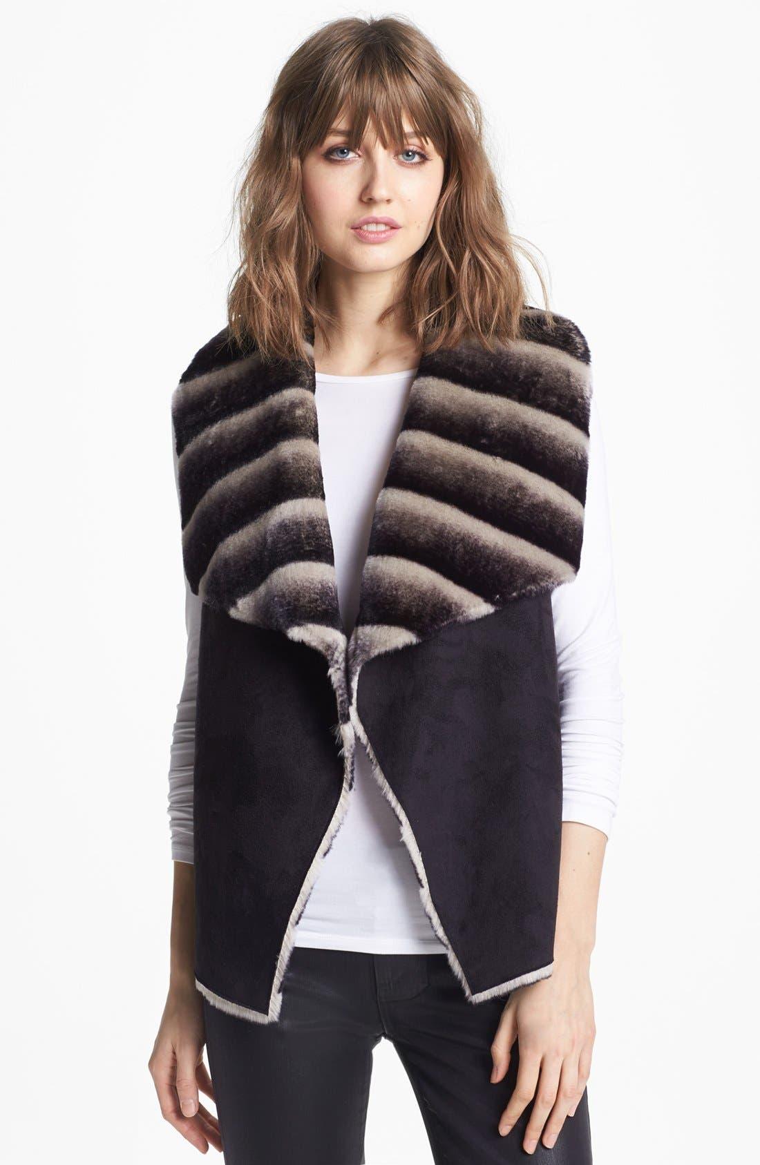 Main Image - Sam Edelman Dip Dye Faux Shearling Vest
