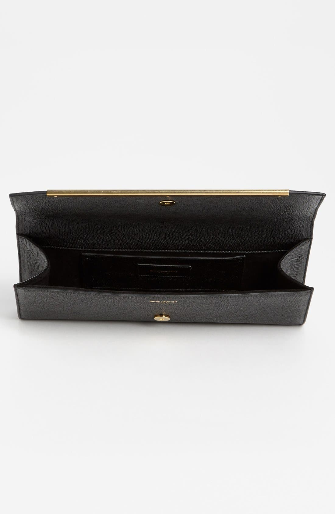 Alternate Image 3  - Saint Laurent 'Lutetia - Palmellato' Leather Clutch