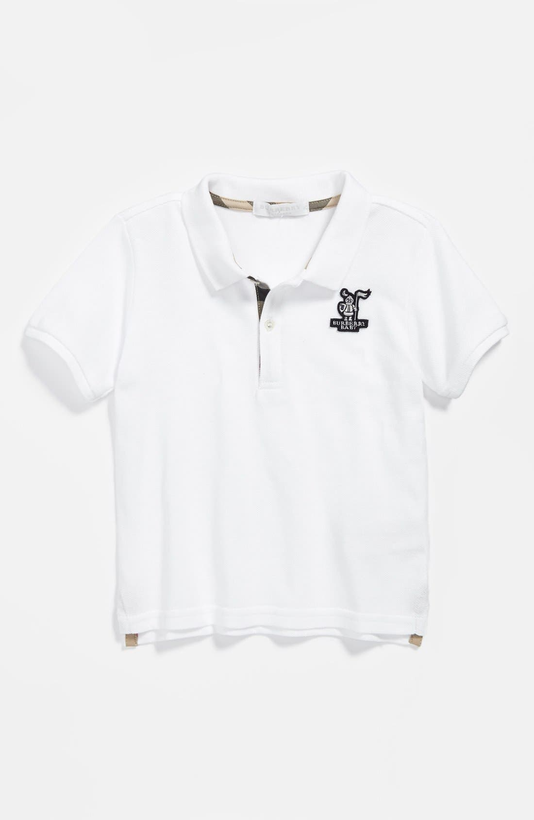 Alternate Image 1 Selected - Burberry 'Palmer' Polo (Toddler Boys)