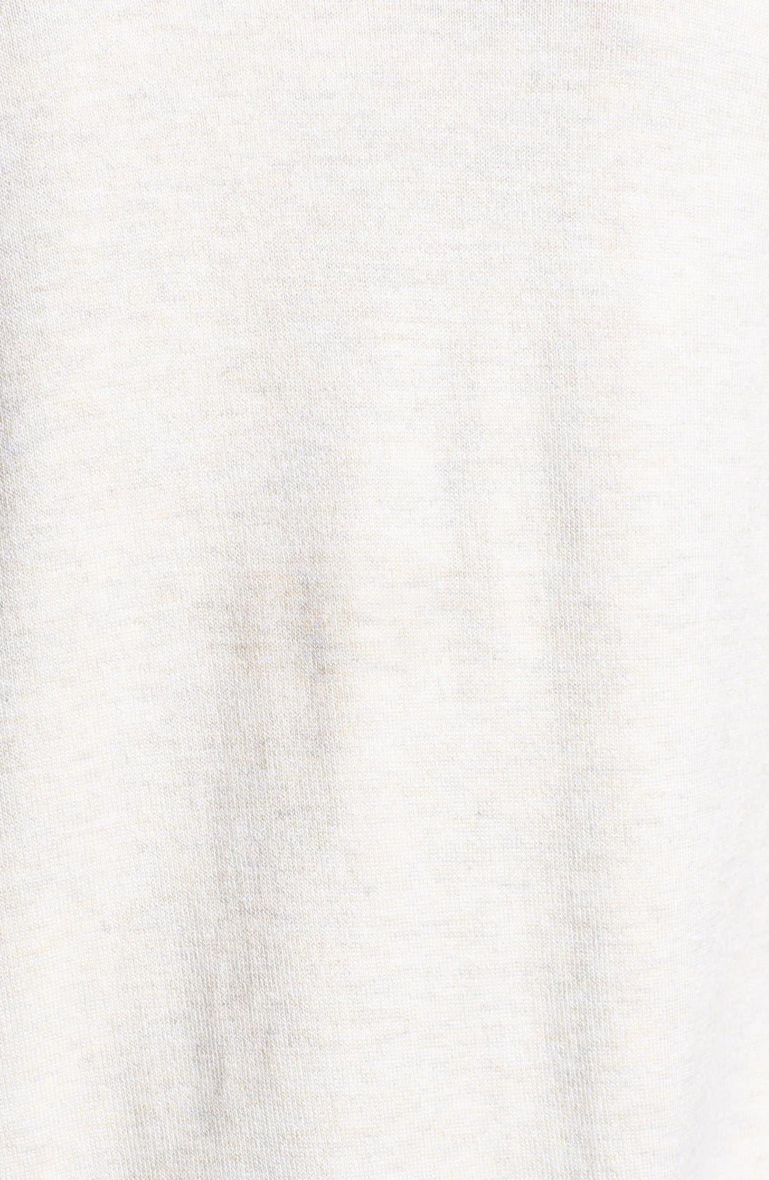 Three Quarter Sleeve Cardigan,                             Alternate thumbnail 2, color,                             Heather Oatmeal