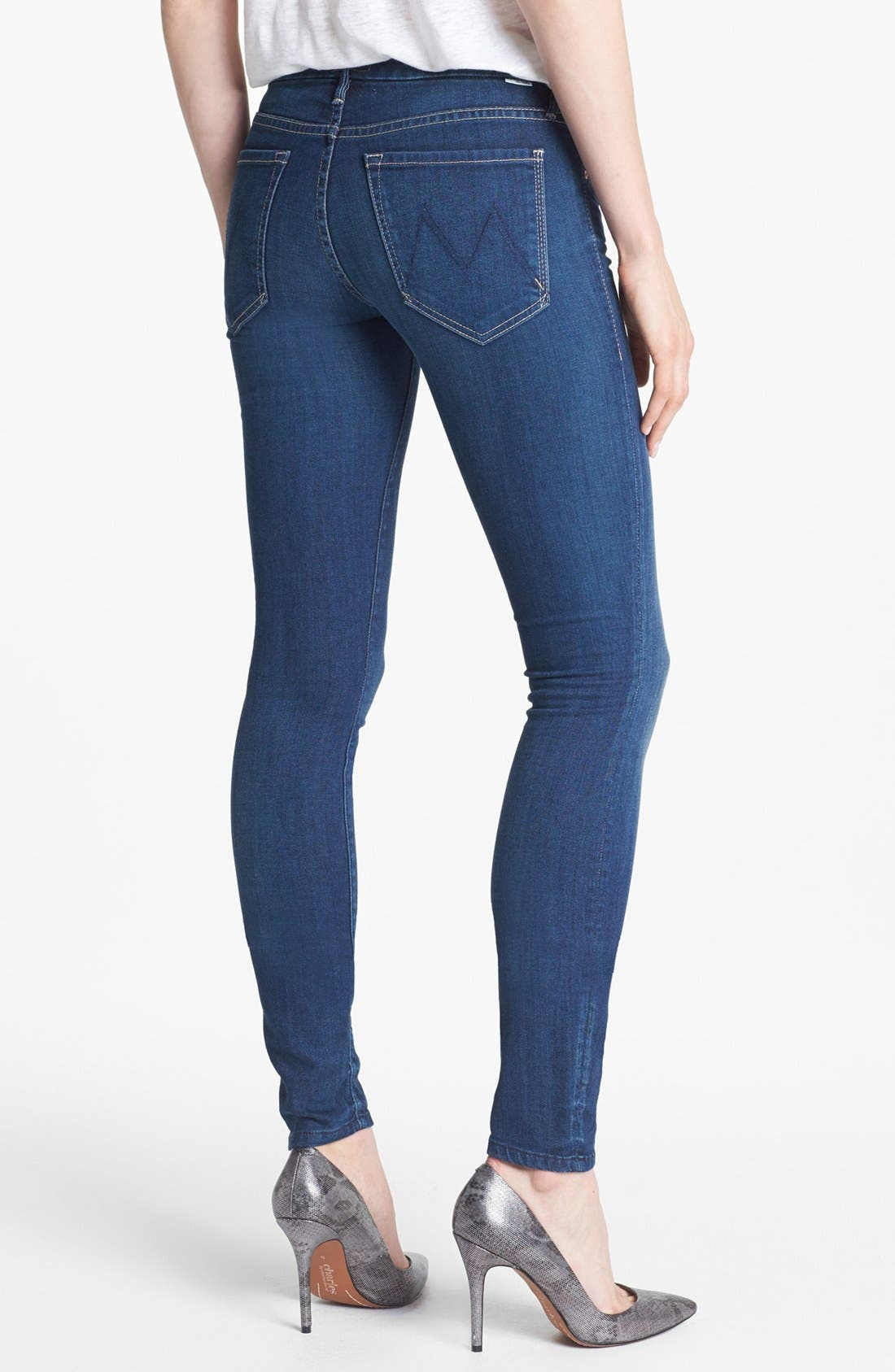 Alternate Image 2  - MOTHER 'The Looker' Skinny Stretch Jeans (Sea of Secrets)
