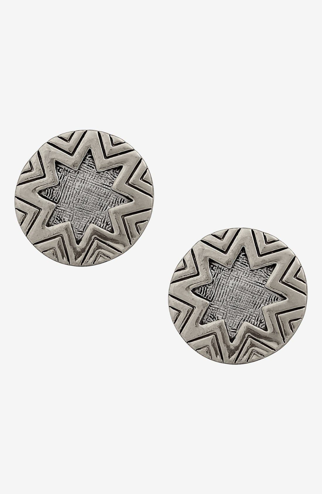 Alternate Image 1 Selected - House of Harlow 1960 Engraved Stud Earrings