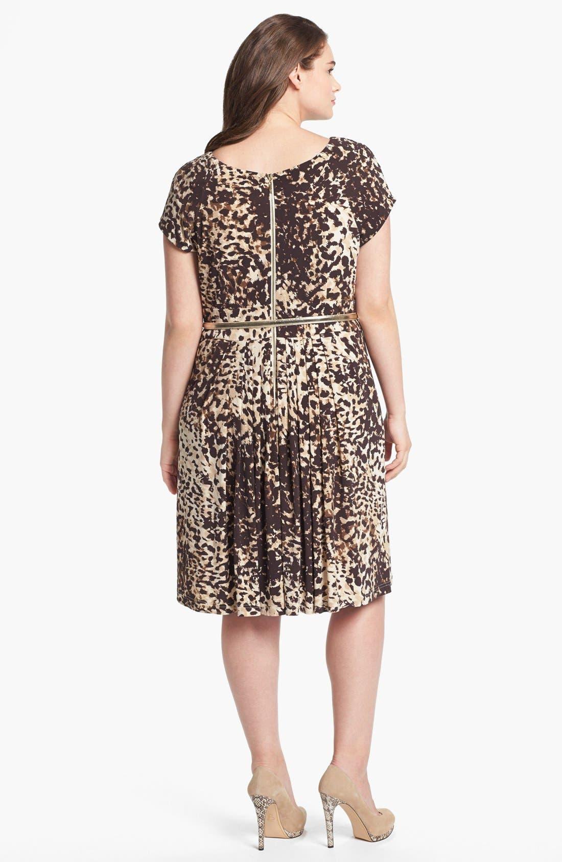 Alternate Image 2  - Eliza J Print Jersey Fit & Flare Dress (Plus Size)