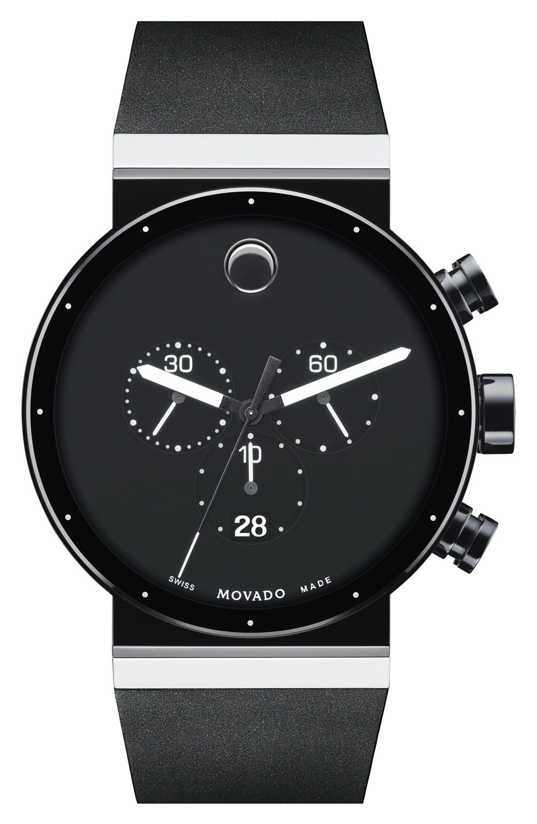 Alternate Image 1 Selected - Movado 'Sapphire Synergy' Chronograph Watch, 42mm