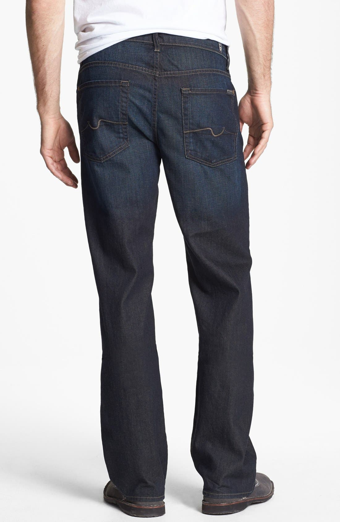 Alternate Image 1 Selected - 7 For All Mankind® 'Austyn' Relaxed Fit Jeans (Amber Night)