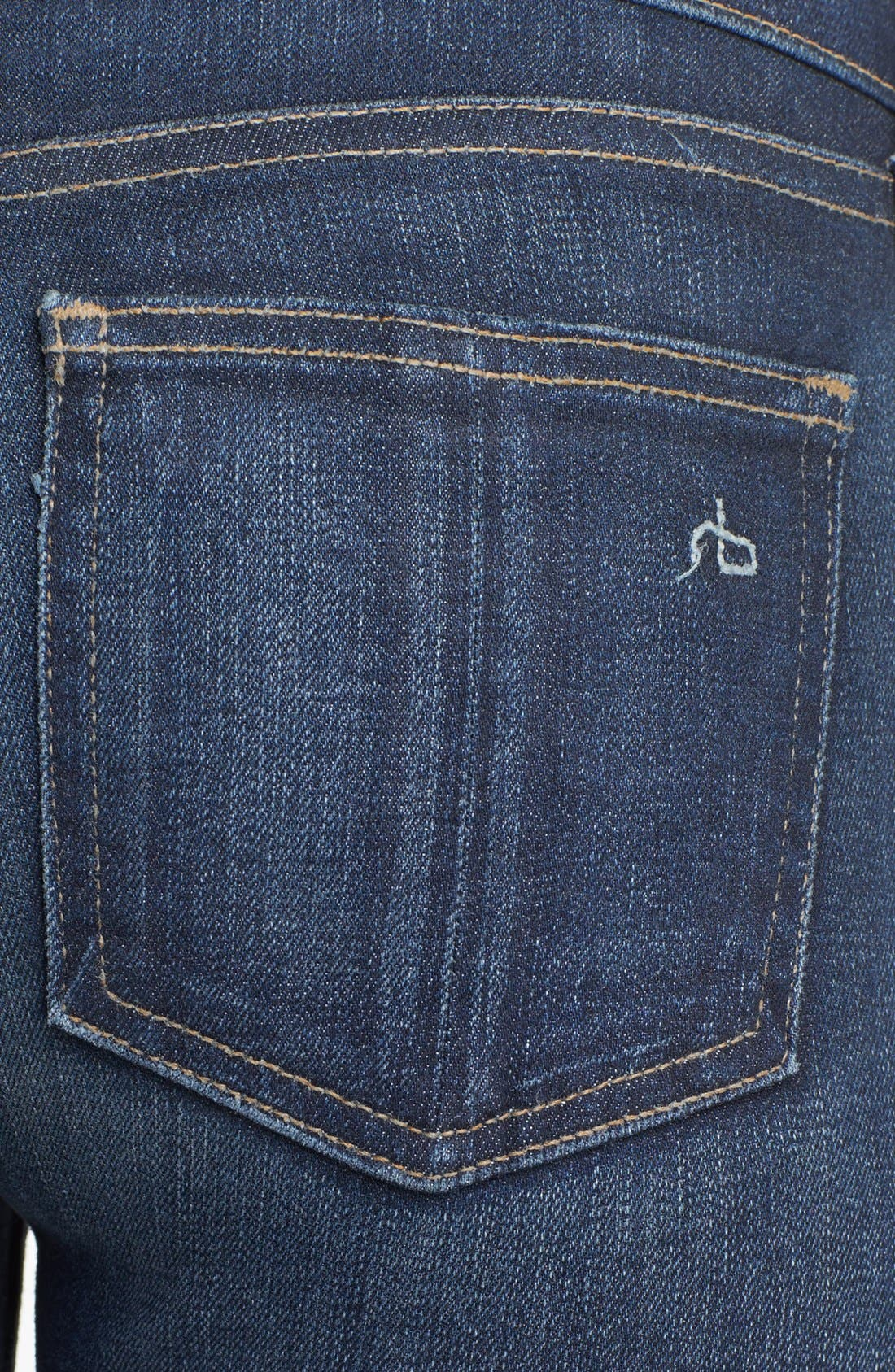 Alternate Image 3  - rag & bone/JEAN Skinny Stretch Jeans (Clean Charing)