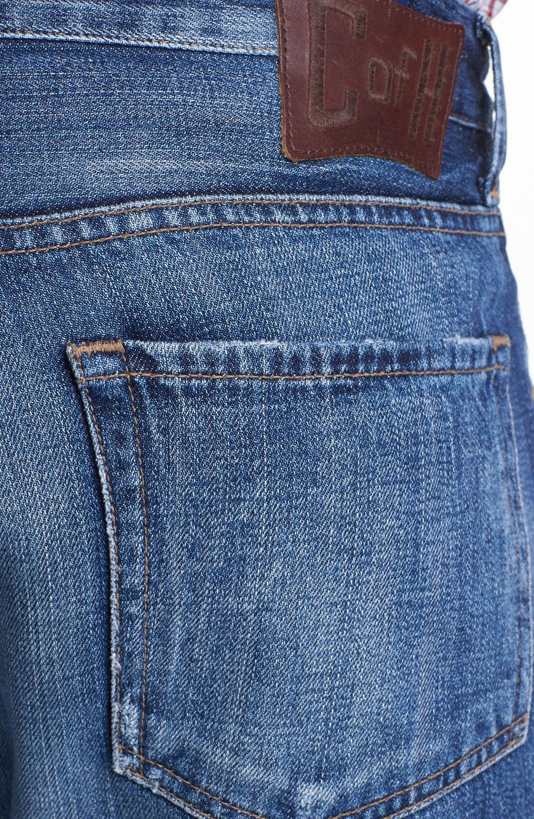 Alternate Image 4  - Citizens of Humanity 'Sid Selvage' Straight Leg Jeans (Kory Wash)