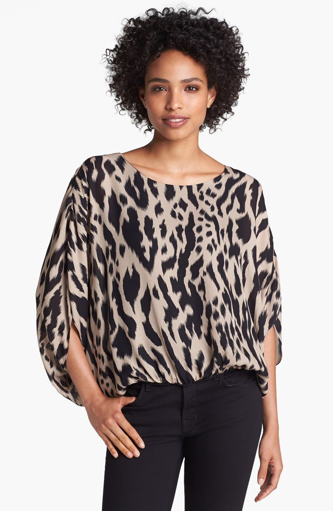 Alternate Image 1 Selected - Vince Camuto Batwing Sleeve Ikat Print Blouse (Online Only)