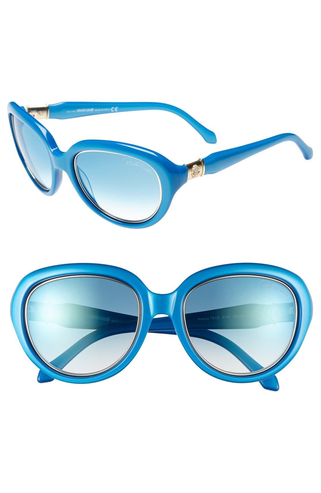 Alternate Image 1 Selected - Roberto Cavalli 'Acqua' 56mm Sunglasses