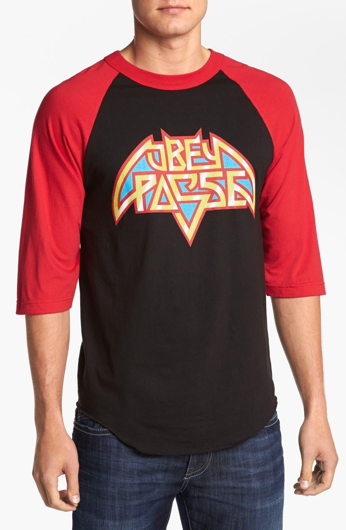 Alternate Image 1 Selected - Obey 'American Metal' Baseball T-Shirt
