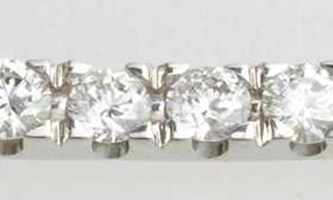 'Stick' Pavé Diamond Bar Necklace,                             Alternate thumbnail 3, color,                             White Gold