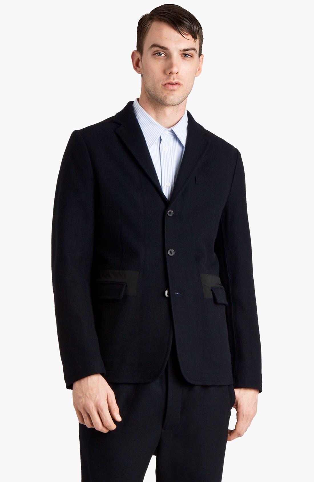 Main Image - Marni Three Button Wool Blend Blazer