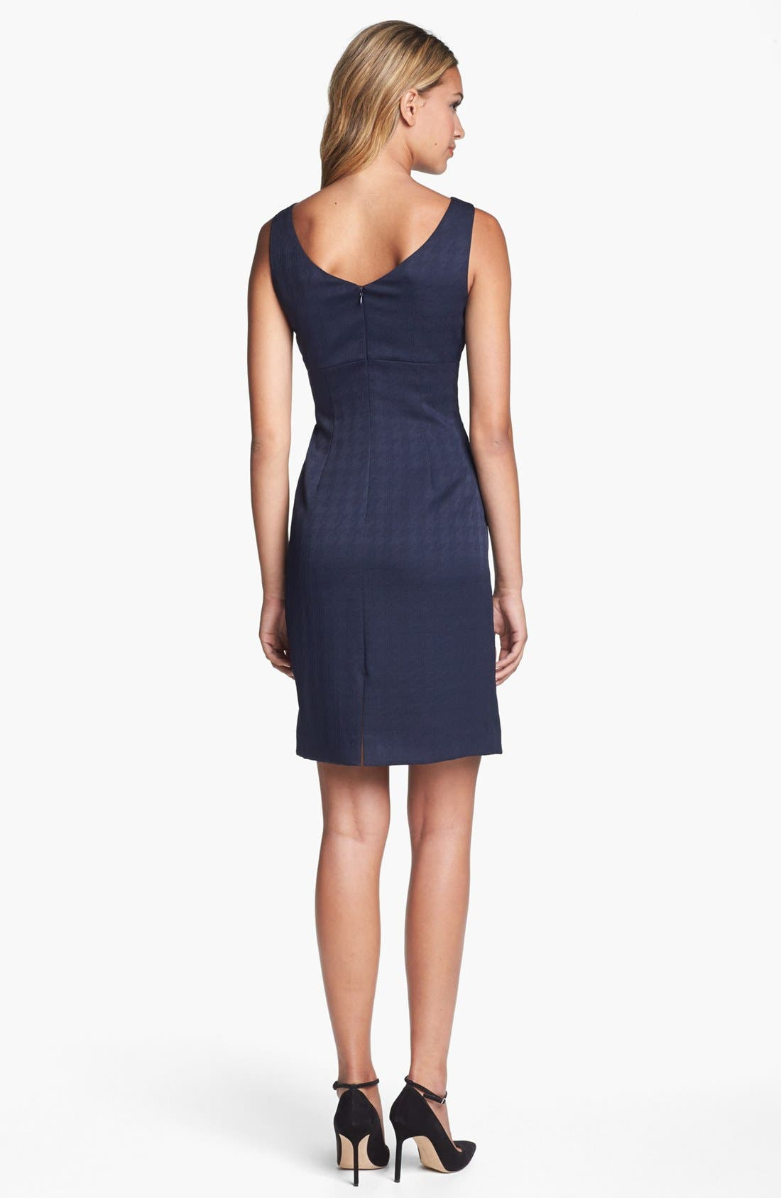 Alternate Image 2  - Tahari Sleeveless Side Bow Jacquard Sheath Dress