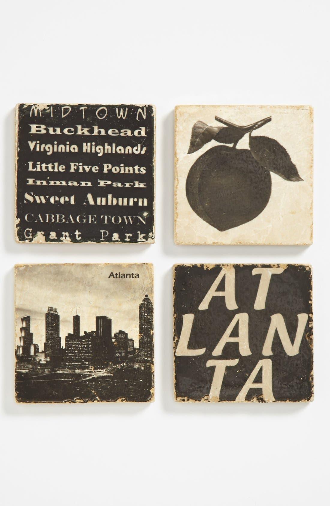 Alternate Image 1 Selected - 'Atlanta' Marble Coasters (Set of 4)