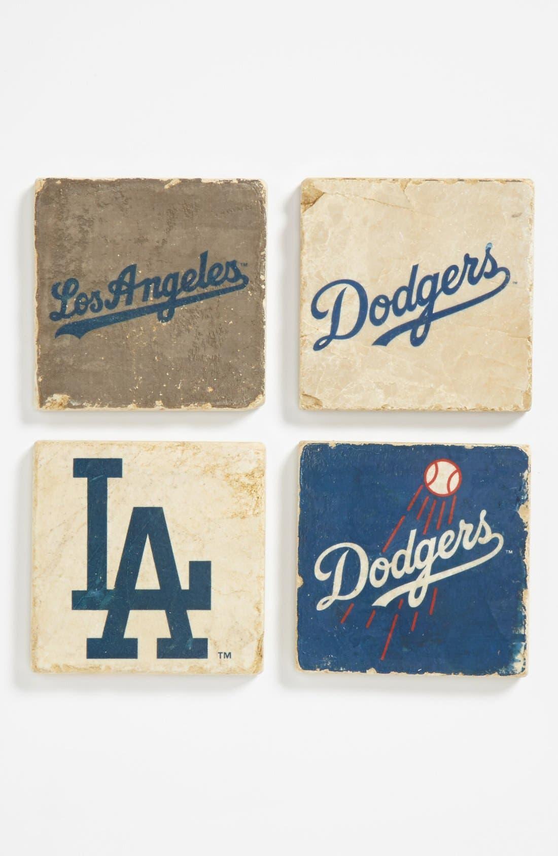 Main Image - 'Los Angeles Dodgers' Marble Coasters (Set of 4)